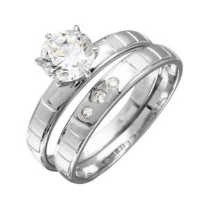 New Engagement Ring and wedding band 2pc Set